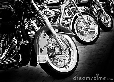 Motorcycles in a row Editorial Photography
