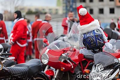 Motorcycles of Santa Claus