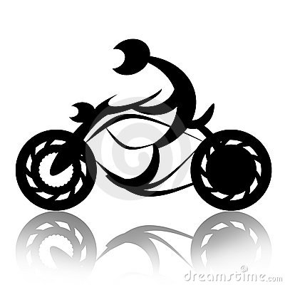 Motorcyclist on bike