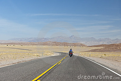 Motorcyclist in Death Valley