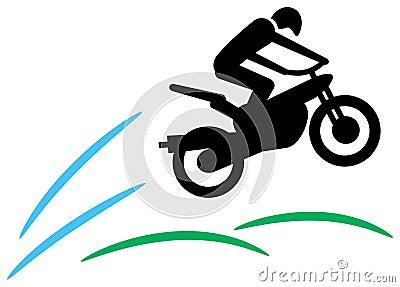 Motorcyclist jump
