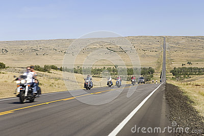 Motorcyclists on State highway 34 Editorial Photo