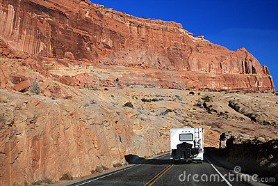 Motorhome in Arches National Park, Utah