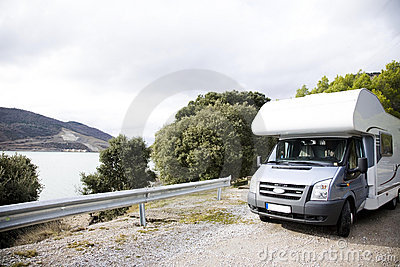 Motorhome Near The Lake