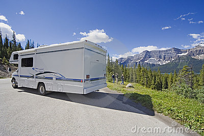 Motorhome side view and wide angle