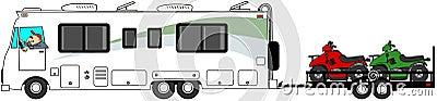 Motorhome towing ATV s