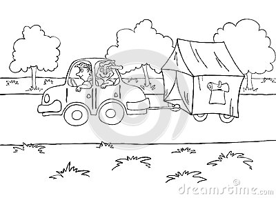 Stock Illustration Motorhome Travel Vector Illustration Contour Image42978394 on rv home plans