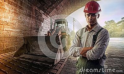 Motorista da escavadora