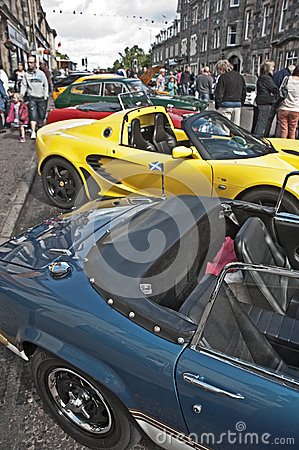 Motormania at Grantown-on-Spey Editorial Stock Image