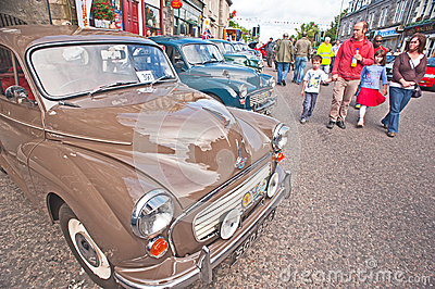 Motormania at Grantown-on-Spey Editorial Photo