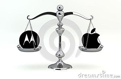 Motorola Mobility versus Apple Editorial Stock Image