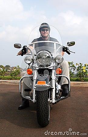 Motorrad-Mann