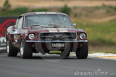 Motorsport 1967 Mustang Editorial Photo