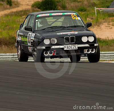 Motorsport BMW E30 320i Editorial Stock Photo