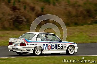Motorsport BMW E30 Peter Brock Mobil M3 Redaktionelles Stockfotografie
