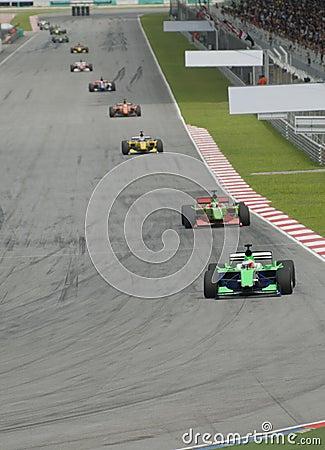 Motorsport car race
