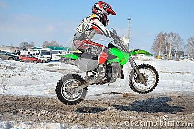 Motorsport MX 65 cm3. Junior rider jump