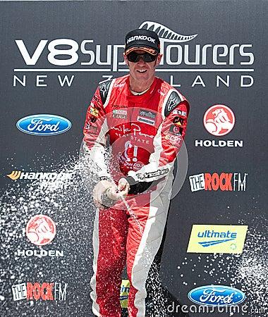 Motorsports - V8 Supertourers Winner Greg Murphy Editorial Photo