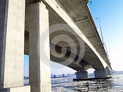 Motorway A1 bridge across the Riv