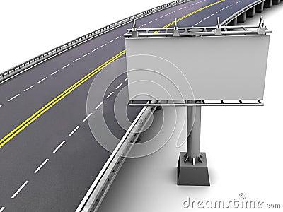 Motorway with billboard