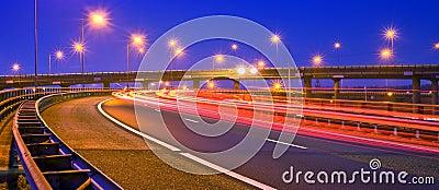 Motorway at night