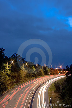 Motorway Night Lights