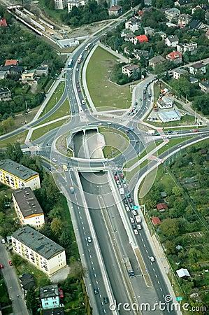 Motorway roundabout
