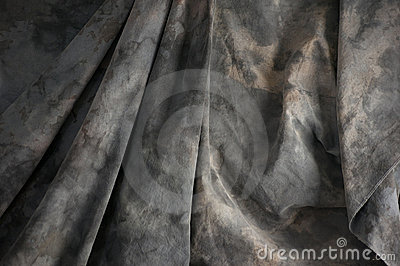 Mottled draped background cloth