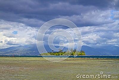 Motu is a small island