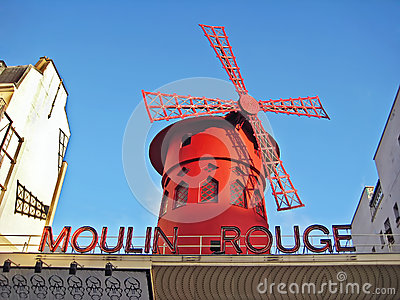 Moulin Rouge Editorial Stock Photo