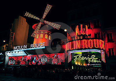 Moulin Rouge cabaret Editorial Photo
