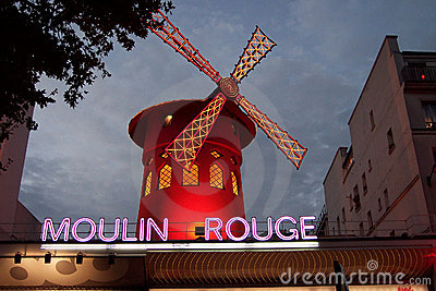 Moulin Rouge Cabaret Paris France Editorial Stock Image