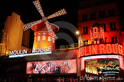 The Moulin Rouge famous cabaret Editorial Photography