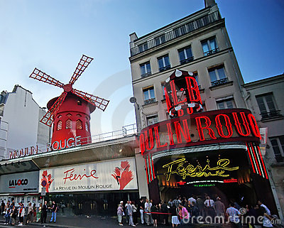 Moulin Rouge In Paris Stock Photo - Image: 12851340