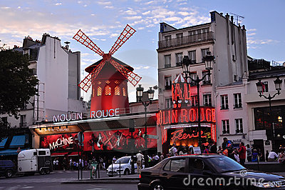 Moulin Rouge. Paris Editorial Photography
