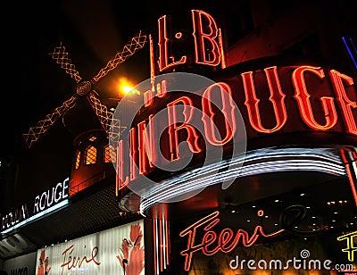 Moulin Rouge, Paris Editorial Image