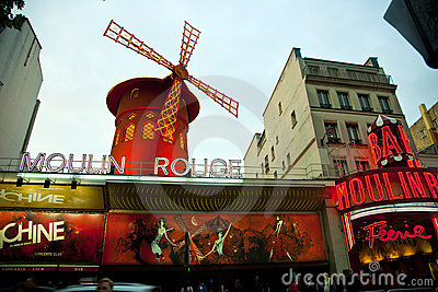 Moulin Rouge, Paris - Editorial Image