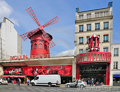 Moulin Rouge, Paris Editorial Photography
