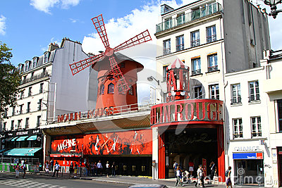 Moulin Rouge in Paris Editorial Stock Photo