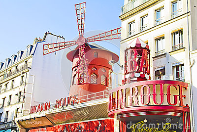 The Moulin Rouge, Paris Editorial Stock Image