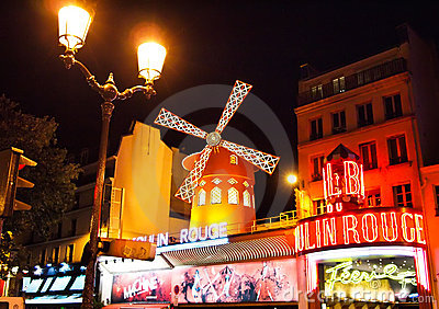 The Moulin Rouge in Paris , France Editorial Photo
