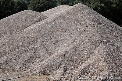 Mounds Of Gravel