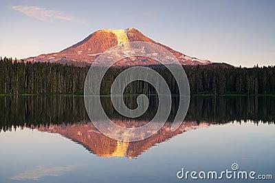 Mount Adams Sunset Mountain Lake Washington State