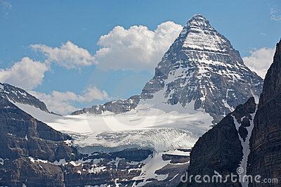 Mount Assiniboine and glaciers