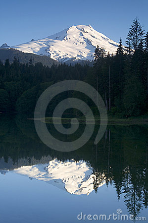 Mount Baker Lake Reflection Washington Cascades