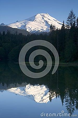Mount Baker Lake Reflection Washington Cascades