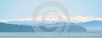 Mount Baker Washington State panoramic
