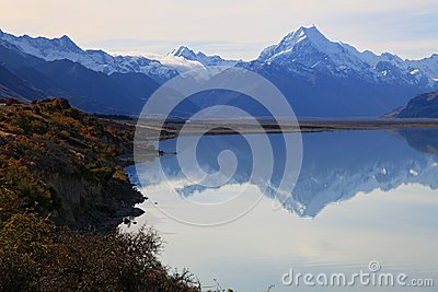 Mount cook of lake pukaki