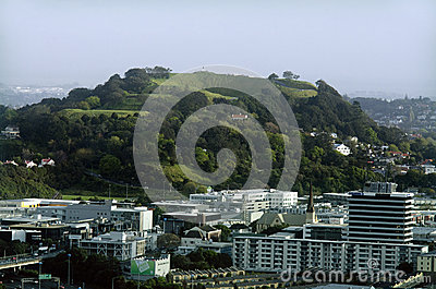 Mount Eden in Auckland New Zealand NZ Editorial Stock Photo
