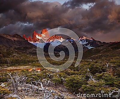Mount Fitz Roy at sunrise